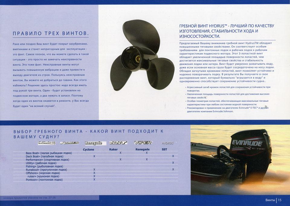 геометрия гребного винта для лодочного мотора