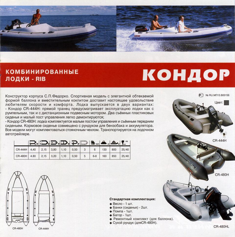 сайт производителя лодок кондор
