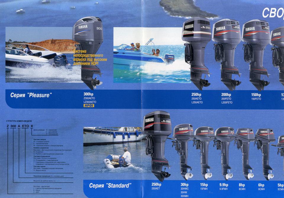 моторы лодочные ямаха каталог по годам