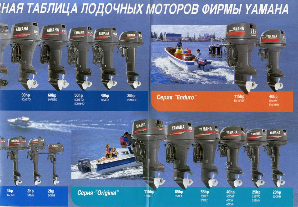 таблица года выпуска лодочных моторов ямаха
