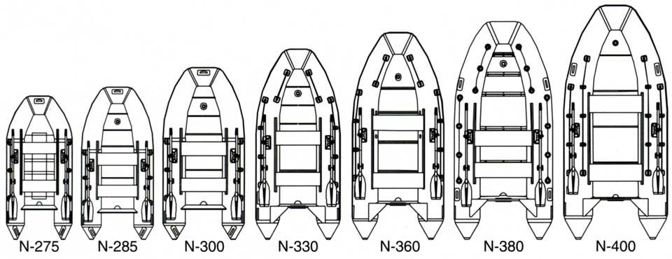 схемы и размеры лодок Мнев