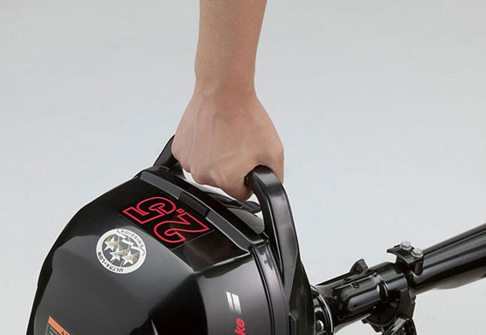 как одевать лодочный мотор