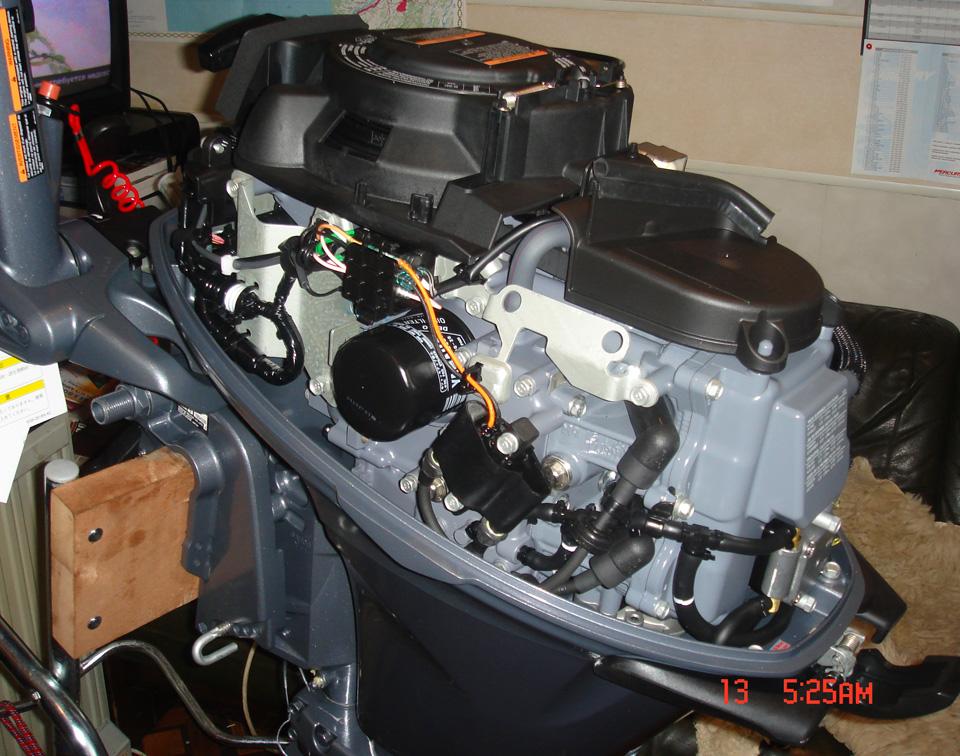 Подвесной мотор Yamaha F20 BMHS - особенности конструкции