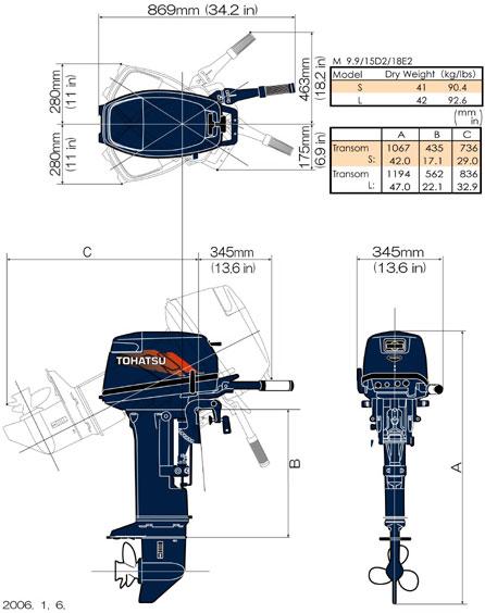 схема мотора tohatsu m18, m18s