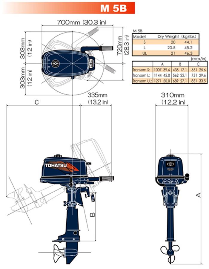 размеры транцев на подвесные моторы