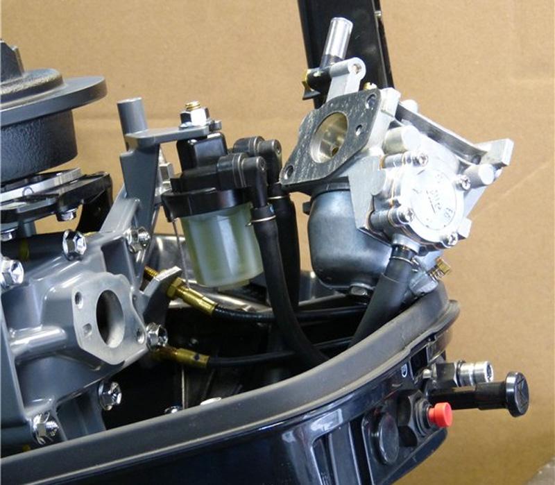 снимаем глушитель двигателя suzuki dt-9.9-a