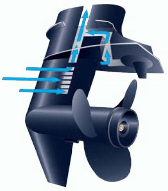 система охлаждения 2-х тактного лодочного мотора