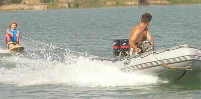 вейкборд на лодке пвх