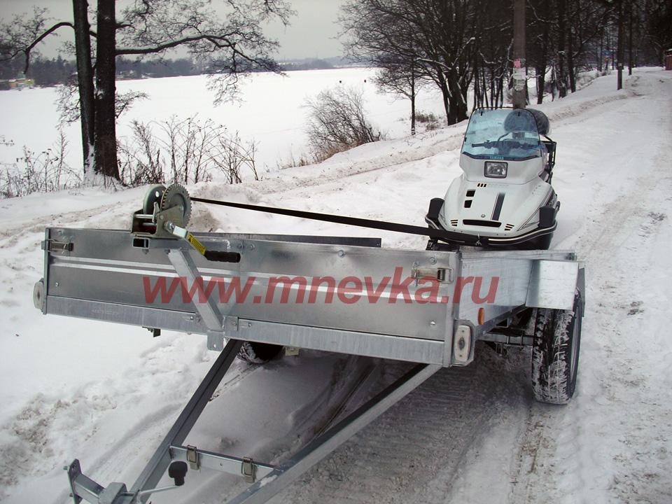 Прицепы для перевозки снегохода своими руками